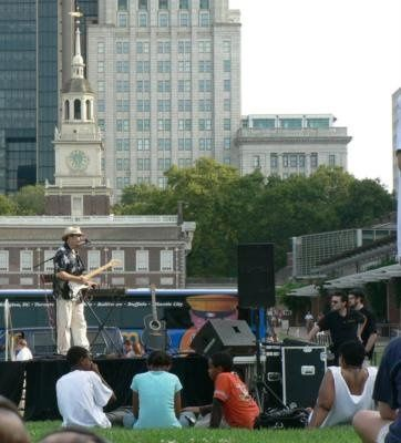Outdoor concert at the Independence Hall Visitor's Center, Philadelphia, PA.