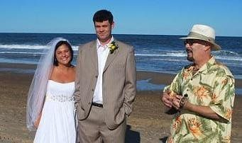 Beach wedding at Rehoboth beach, DE.
