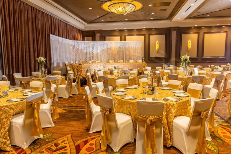 Yellow reception decor