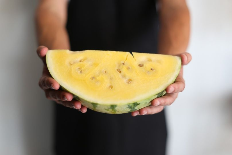 Yellow watermelon produce