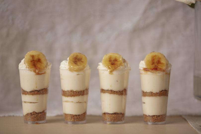 Dessert Bar with Mini Banana Cream Pies