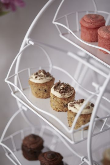 Dessert Bar with Ferris Wheel, focusing on the Cookie Dough Mini in the middle, Sugar Cookie Mini up...