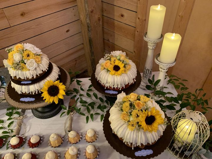 Flowers, candles, and cakes