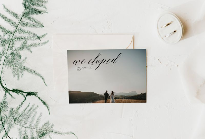 We Eloped Announcement