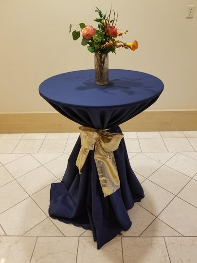 Cabaret Table with Gold Sash