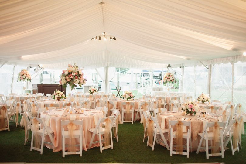 Tent reception setup