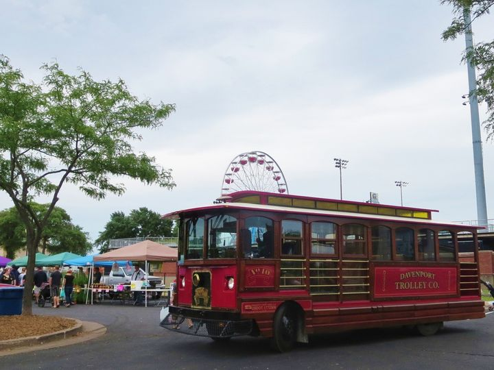 Tmx 1471745883425 Trolley By Market And Ferris Wheel Davenport, IA wedding transportation