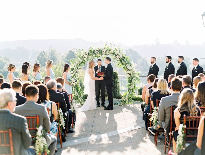 Exchanging vows on the Patio Terrace