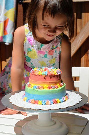 Gluten-free rainbow cake