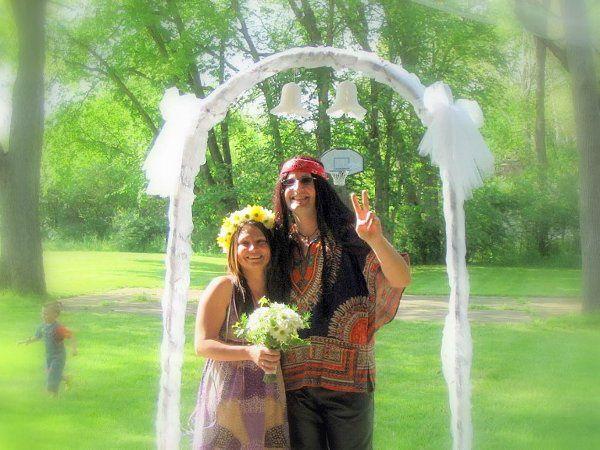 Hippie themed wedding.  It was so much fun!