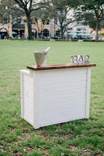 Ship-lap and live-edge bar