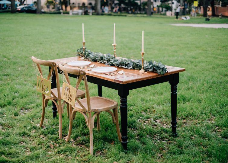 Monaco sweetheart table