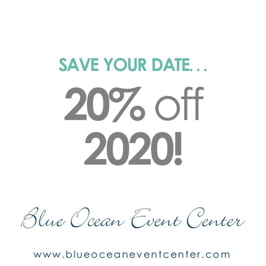 20% off 2020 wedding dates