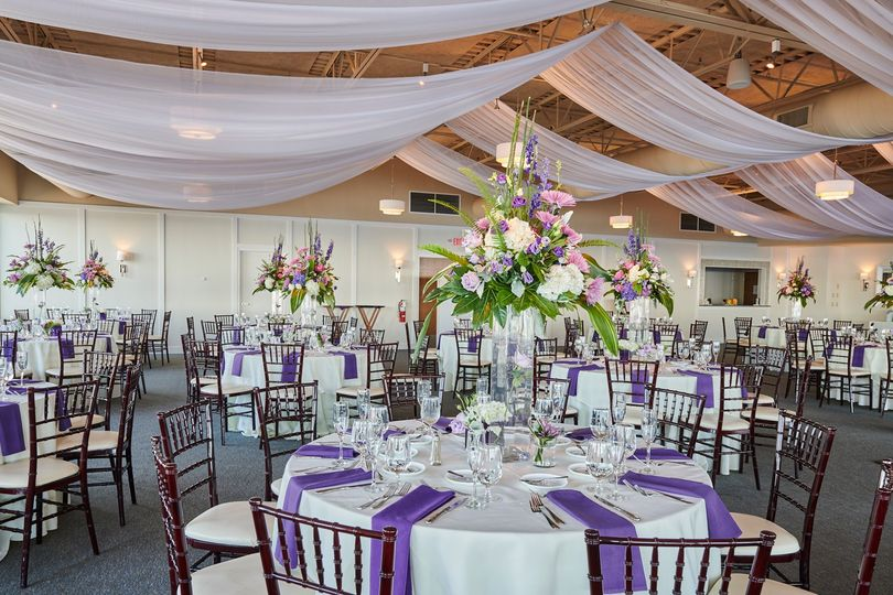 Colorful reception setup
