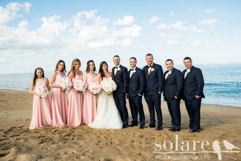Seaside Bridal Party Portrait