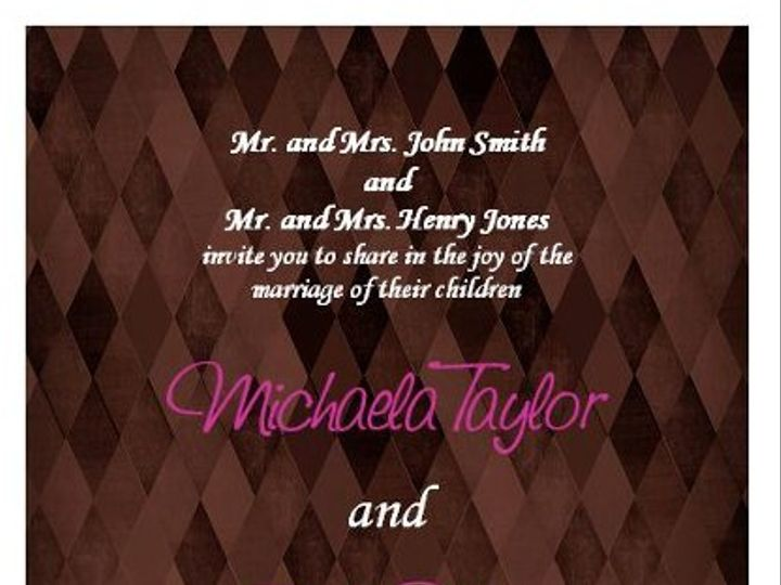 Tmx 1280982966261 BrownDiamondWeddingInvitations Lisle wedding invitation