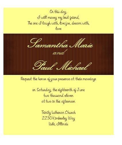 Tmx 1280982966948 BrownRibbonWeddingInvitations Lisle wedding invitation