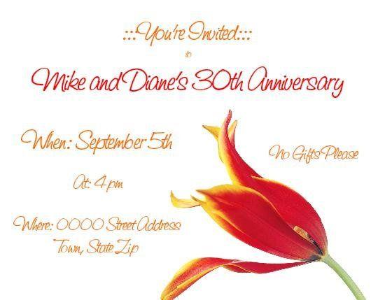 Tmx 1280982967573 TulipAnniveraryInvite Lisle wedding invitation