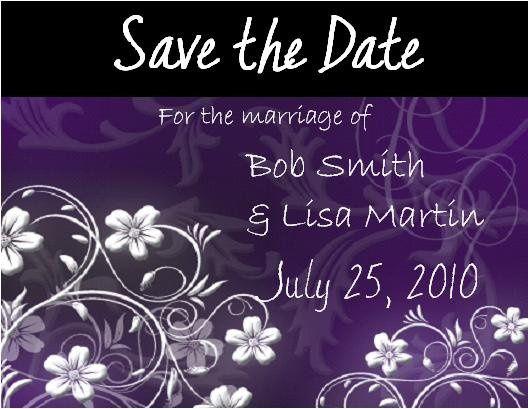 Tmx 1280982968214 PurpleFlowerSavetheDate Lisle wedding invitation
