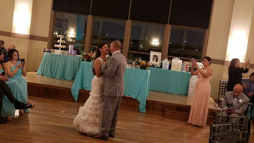 Couple's first dance at Noah's Event Center