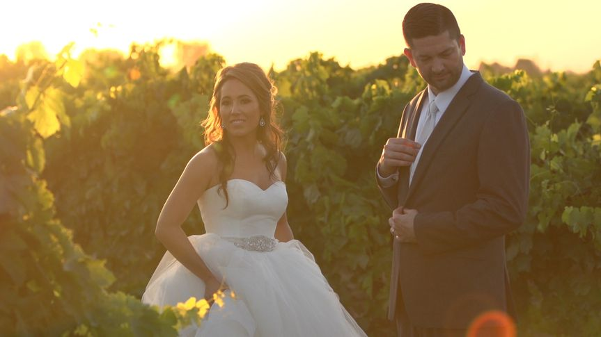 Image pulled from wedding video - Megan & Phillip