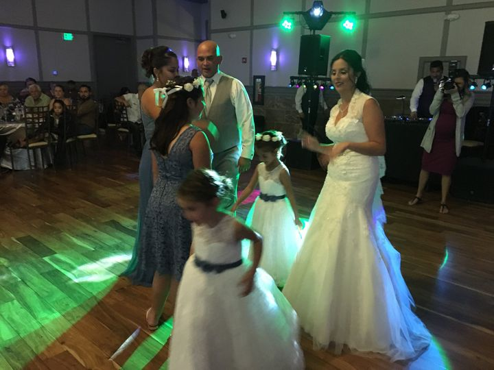 Family on the dance floor