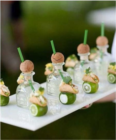 Mini tacos with Tequila shots