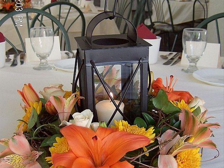 Tmx 1347480668454 Floralaccentslanternorangelilyalstromumminirose North Tonawanda wedding florist
