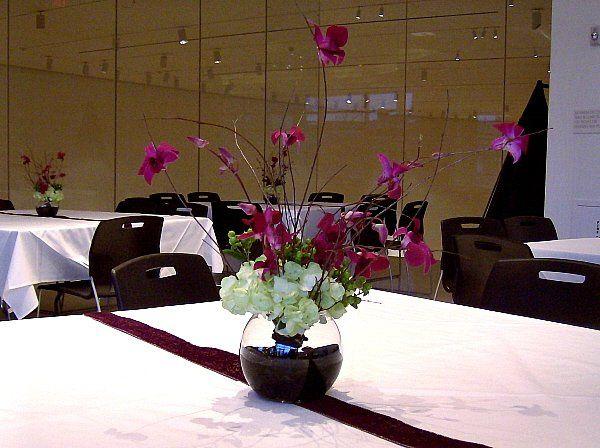 Tmx 1347480680529 Floralaccentsreceptionbirchbranchpurpleorchidshydrengahypernicanrosebowl North Tonawanda wedding florist