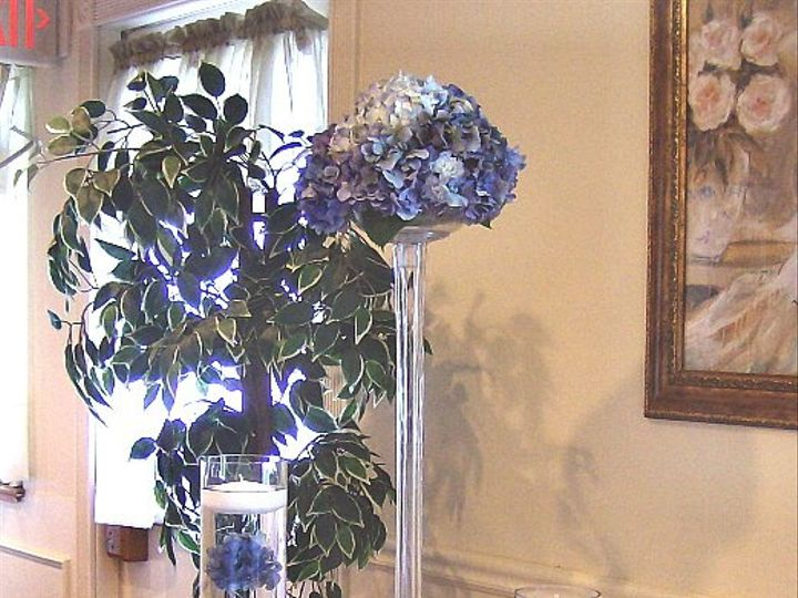 Tmx 1347480684739 Floralaccentsreceptionbluehydrengatriowitheifle North Tonawanda wedding florist