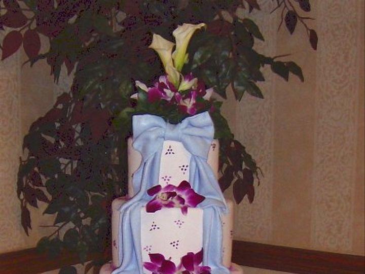 Tmx 1347480688176 Floralaccentsreceptioncakepinkdendrobswhitecalas North Tonawanda wedding florist