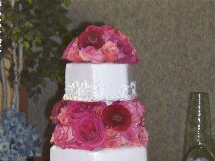 Tmx 1347480694193 Floralaccentsreceptioncakepinksrosesgerbs North Tonawanda wedding florist