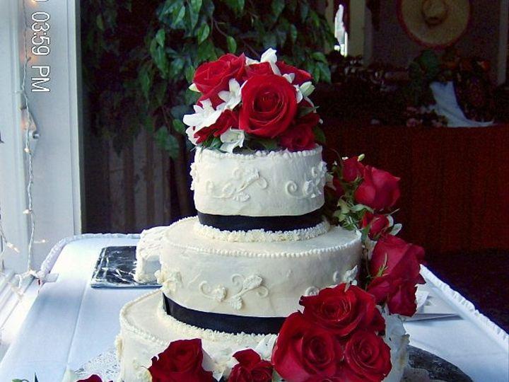 Tmx 1347480698250 Floralaccentsreceptioncakeredrosewhiteochidswhitewithblack North Tonawanda wedding florist