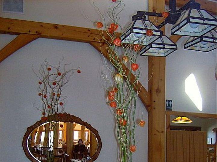 Tmx 1347480713259 Floralaccentsreceptionchineselanterswillowbranchesinpilsner North Tonawanda wedding florist
