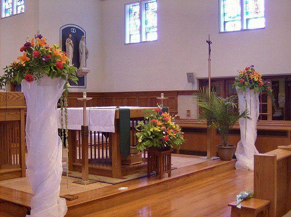 Tmx 1347481249200 Floralaccentsceremony1alterwithcolumnsorangepurpleredyellow North Tonawanda wedding florist