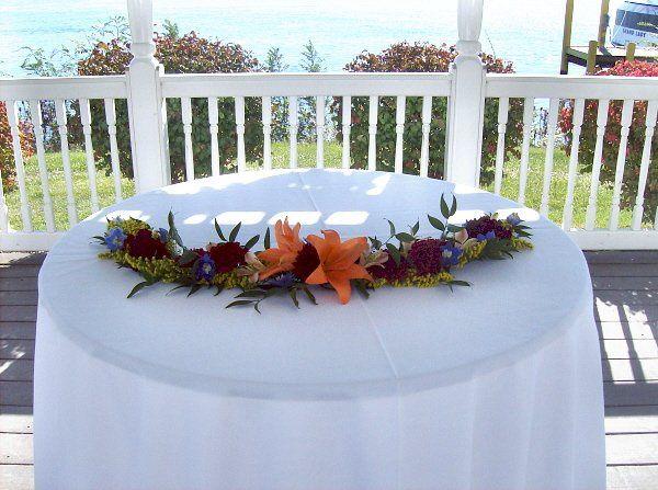 Tmx 1347481311222 Floralaccentsceremony1unitycandletablegarlandorangelily North Tonawanda wedding florist