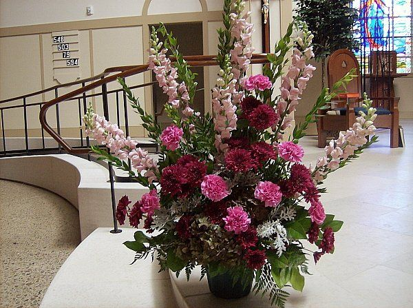 Tmx 1347481359364 Floralaccentsceremonyalterflowersburgundypink North Tonawanda wedding florist