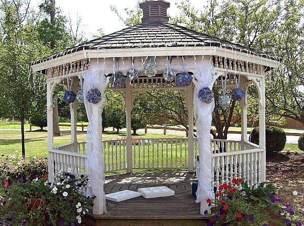 Tmx 1347481416182 Floralaccentsceremonygazebobluehydrengaballs North Tonawanda wedding florist