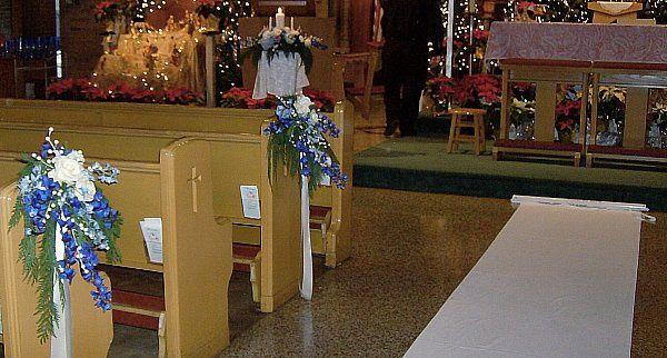 Tmx 1347481444468 Floralaccentsceremonyislerunnerplainwithholidaypewflowers North Tonawanda wedding florist