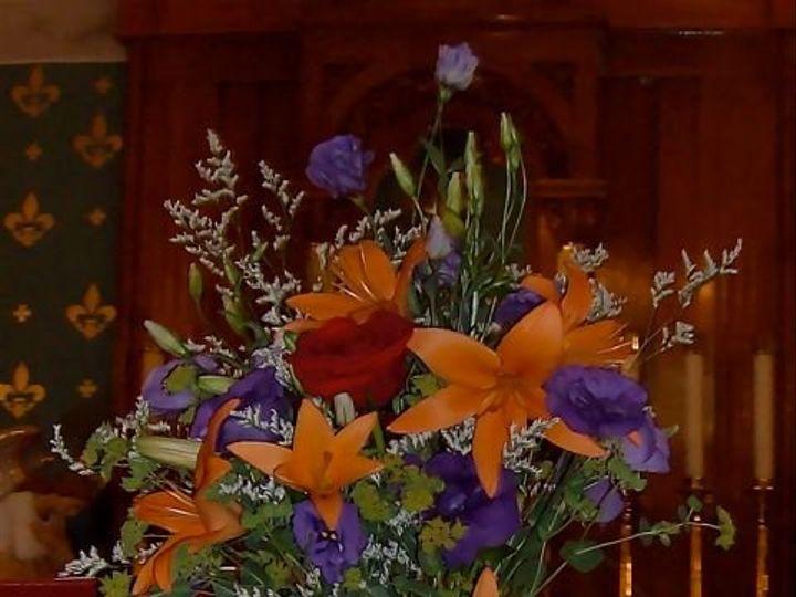 Tmx 1347481445679 Floralaccentsceremonyjuly142012purpleorangeremembrancevace North Tonawanda wedding florist