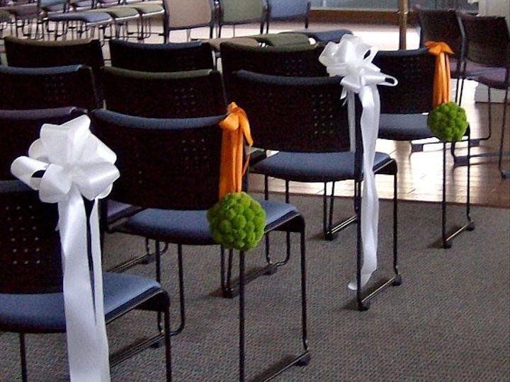 Tmx 1347481462163 Floralaccentsceremonymay2012chairflowersgreenorangepomerander North Tonawanda wedding florist