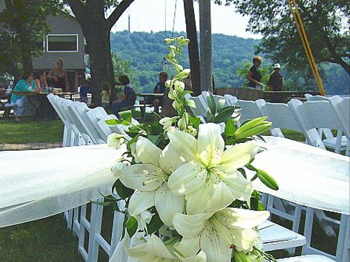 Tmx 1347481466038 Floralaccentsceremonyorientallilieswhitedelphpewflowers North Tonawanda wedding florist