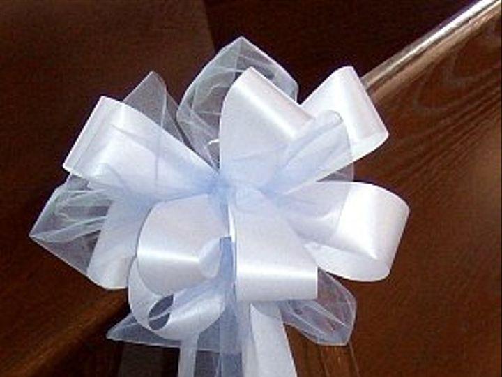 Tmx 1347481475129 Floralaccentsceremonypewbowblueorganzawhiteribbion North Tonawanda wedding florist