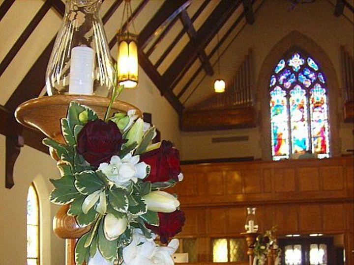 Tmx 1347481486938 Floralaccentsceremonypewcandleflowersredrosewhiteorchid North Tonawanda wedding florist
