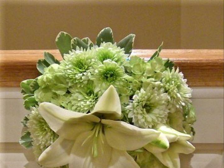 Tmx 1347481497743 Floralaccentsceremonypewflowersgreensturquoisebow North Tonawanda wedding florist