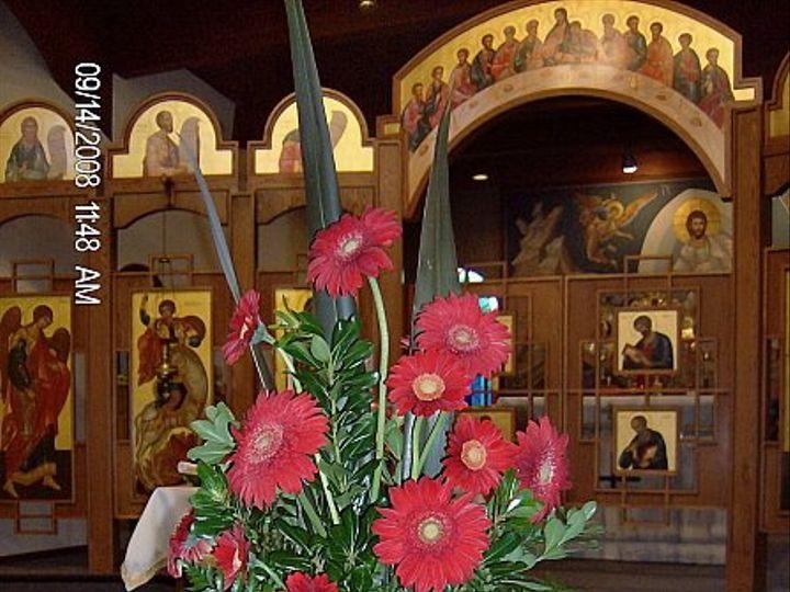 Tmx 1347481530901 Floralaccentsceremonyredgerberadaisiesalterpiece North Tonawanda wedding florist