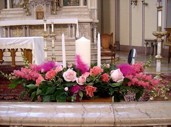 Tmx 1347481605827 Floralaccentsunitycandlepinkfeather North Tonawanda wedding florist