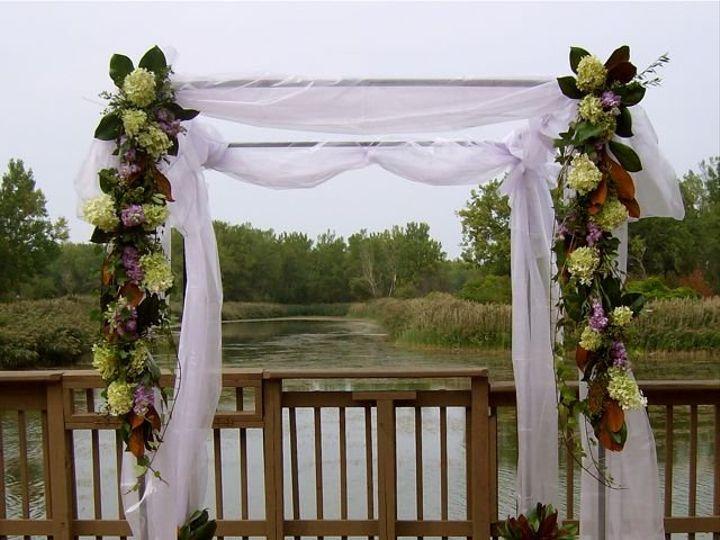 Tmx 1347481661785 Floralaccentsweddingceremonysept72012metalarborhydrangealizswagsorganza North Tonawanda wedding florist