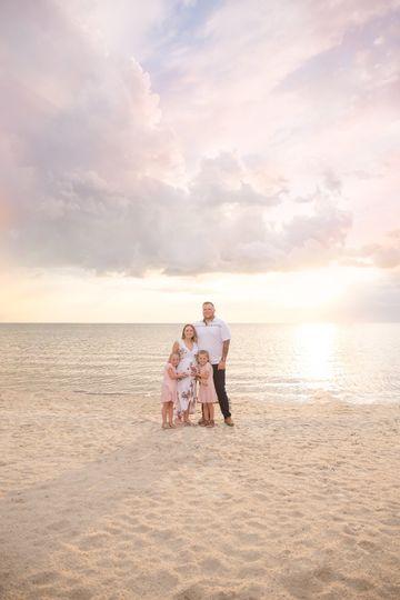 Waterfront family portrait