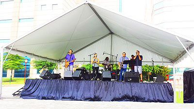 Stage Sound Tent and Entertainment